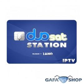Cartao Duosat DuoStation 360 DIAS IPTV